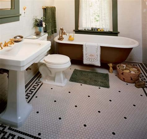 Floor Tile Ideas For Small Bathrooms by 30 Ideas On Using Hex Tiles For Bathroom Floors