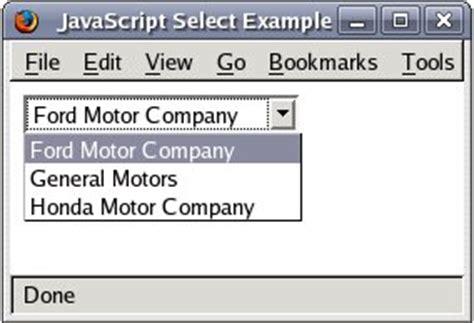 membuat select option html cara membuat dropdown di html echo indo weblog