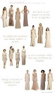 neutral colored dresses mismatched neutral bridesmaid dresses