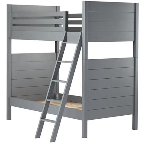 gray bunk beds uptown bunk bed grey