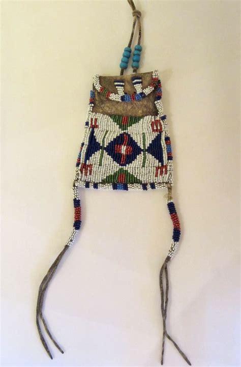 beadwork bag beadwork beaded sioux strike a lite bag circa 1890 s