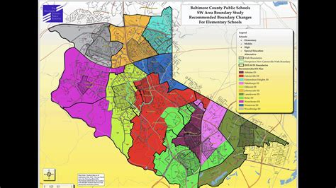 maryland map county boundaries southwest boundary school redistricting map presented to