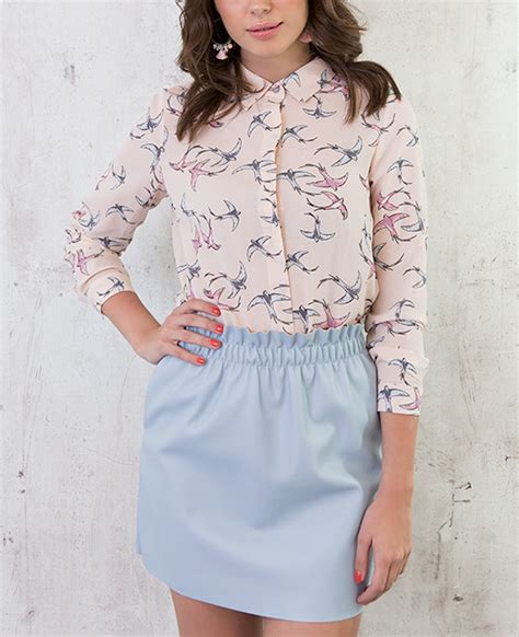 Pastel Blouse Rok leren rok lichtblauw musthaves for real
