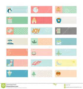 cute vector christmas cards and stickers stock vector