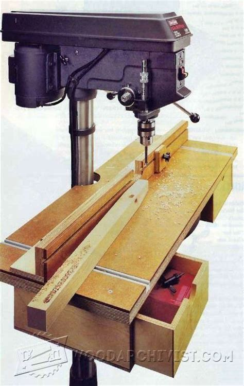 drill press table plan drill press tips jigs and
