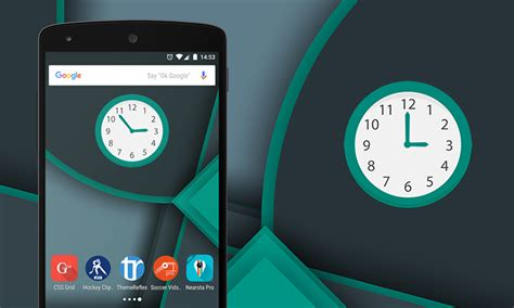 clock widgets for android multicolor analog clock widget for android and devices themereflex