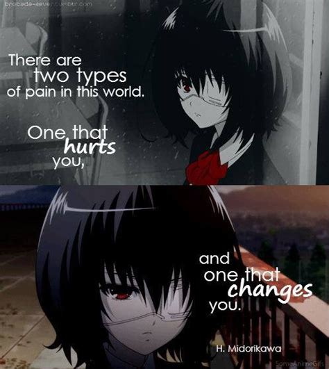 anime quotes about pain anime another anime quotes pinterest anime sad