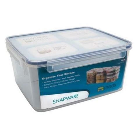 food storage containers snapware airtight large rectangle container 18 1 2 cup ebay
