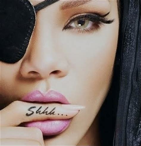 shhh tattoo the gallery for gt rihanna shhh