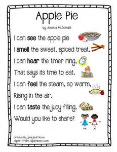 Apple pie five senses poem from play learn lovethrough