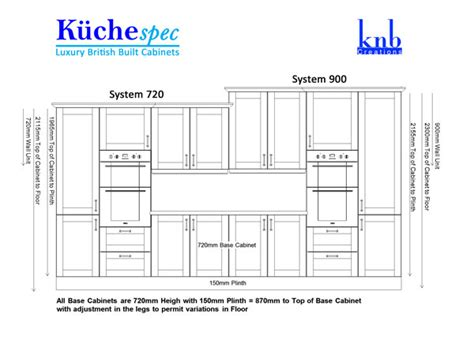 kitchen cabinet height with standard height of kitchen