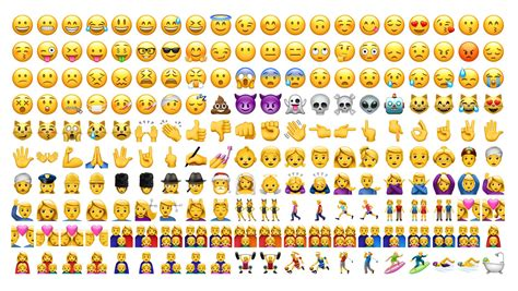 all iphone emoji faces the poo emoji looks different and other important ios 10