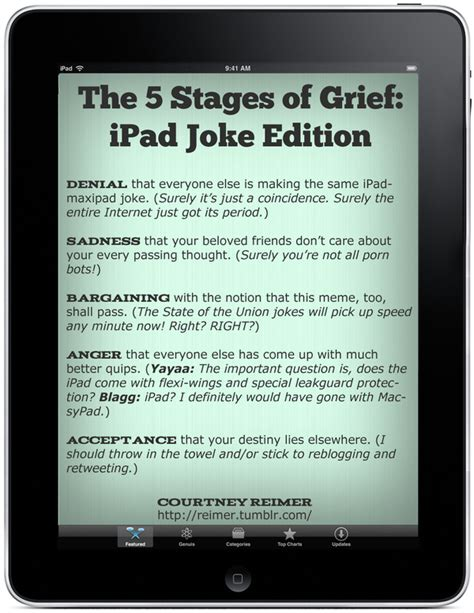 The Stages Of Grief Vacation Edition by The Tablet