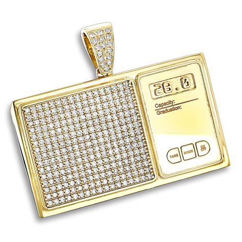 custom jewelry 10k gold digital scale mens
