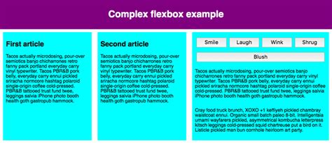 layout using flexbox flexbox learn web development mdn