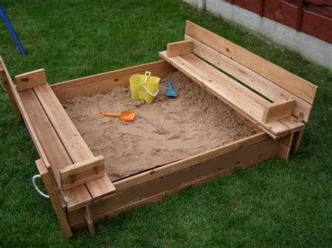 folding bench sandbox square sandpit with benches and folding lid yardgames