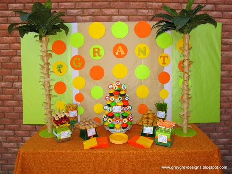 jungle book themed birthday party greygrey designs my parties grant s jungle book 2nd