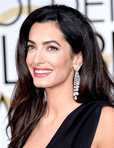 does amal wear extensions rocksmyworld the best jewelry at 2015 golden globes