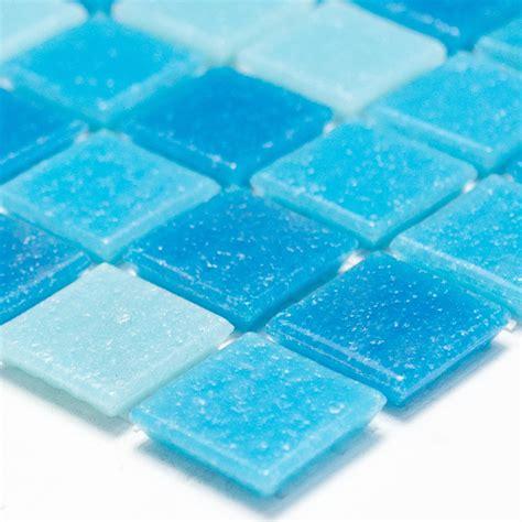 glasmosaik fliesen glasmosaik fliesen blau mix tm33463