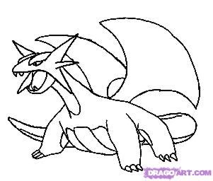 pokemon coloring pages salamence how to draw salamence step by step pokemon characters