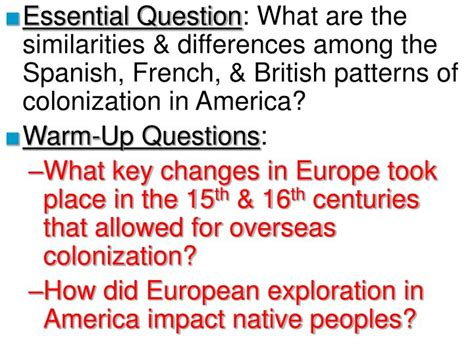 pattern for information question in spanish ppt essential question what are the similarities