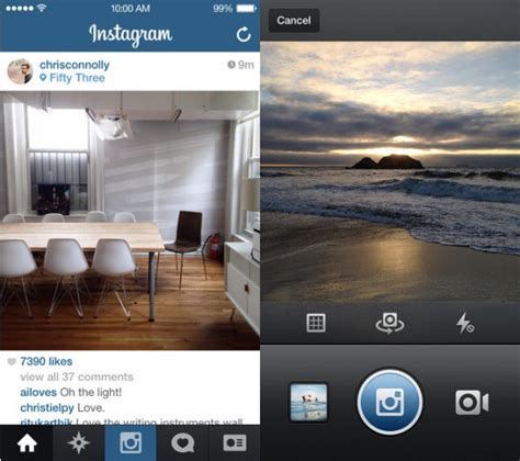 layout instagram ios instagram updated for ios 7 features flat design but same