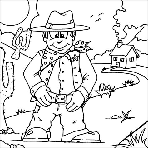 cowboy coloring pages free and printable cowboys spurs coloring pages