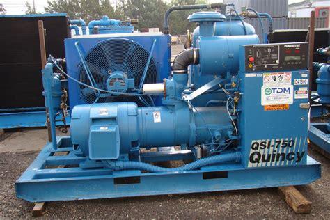 150hp quincy rotary air compressor 460v 78 000hrs power ync controls ebay