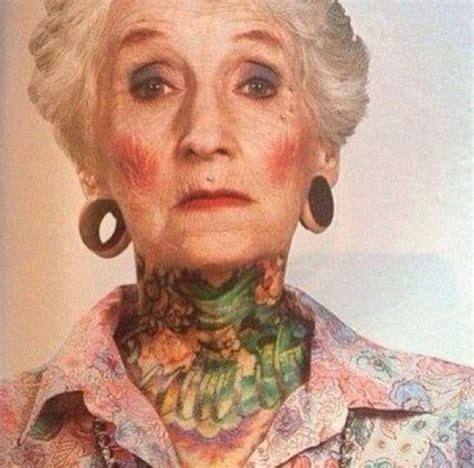 old tattooed lady badass this is 80 years badass