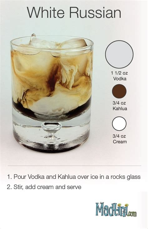 white russian cocktail recipe via madtini com why is the song rasputin going through my head