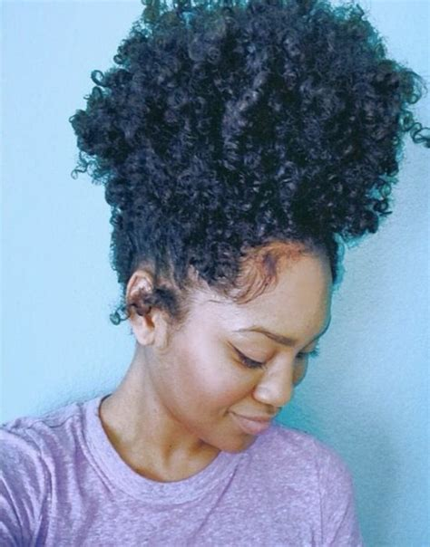 high puff hairstyle human hair ponytail clip in high afro puff