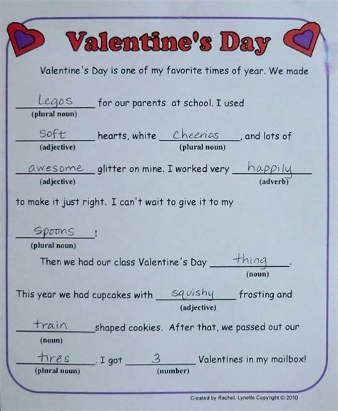 valentines mad libs free mad libs for here is one more