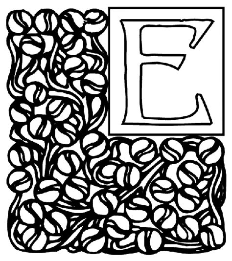 crayola coloring pages letters alphabet garden e coloring page crayola com