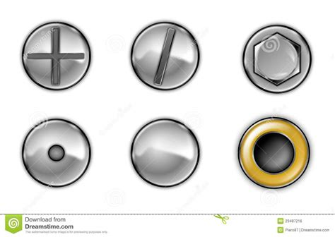 And bolt heads stock illustration. Image of style, symbol