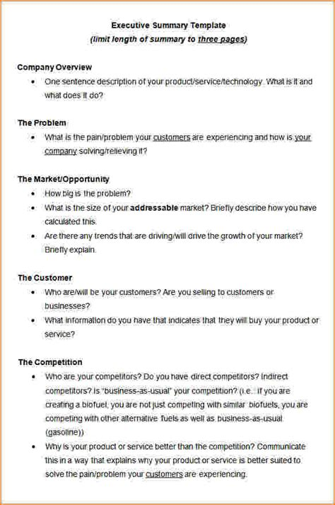 executive summary template word update 15634 word executive summary template 29