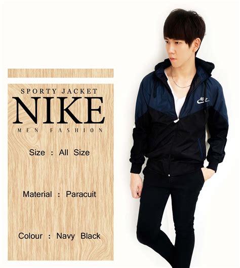 Jaket Pria Black Nike Jk444 1 Jual Jaket Pria Sporty Nike Tokodachi