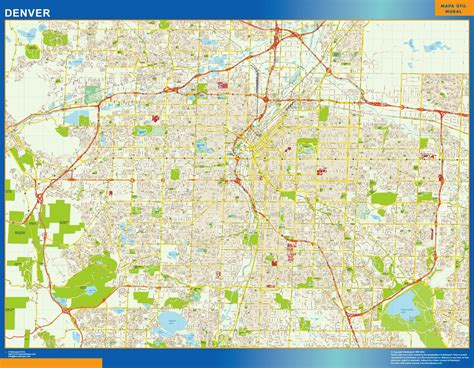 denver maps our denver map wall maps mapmakers offers poster laminated or magnetic framed maps are