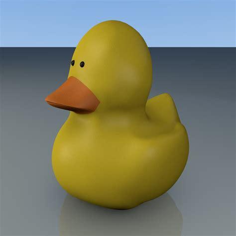 3d Rubber Duck rubber ducky 3d obj