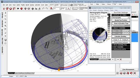 sun path diagram sketchup calculating sun path and shadows in autodesk ecotect