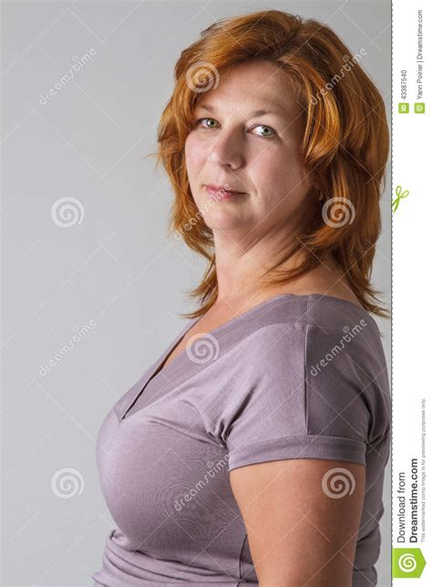 auburn hair 40 year old woman green eyes and red hair stock photo image of people