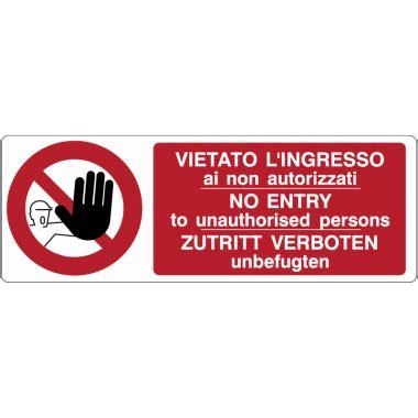 divieto di ingresso cartelli di divieto vietato l ingresso ai non
