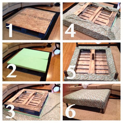 How To Make An Ottoman Out Of A Coffee Table 25 Best Ideas About Pallet Ottoman On Crate Ottoman Diy Ottoman Pallet And Diy Storage