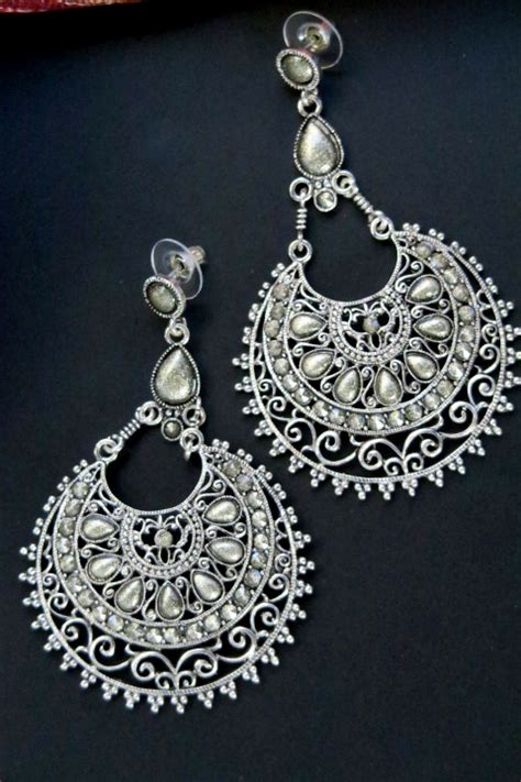 big contemporary ethnic tribal jewelry earrings