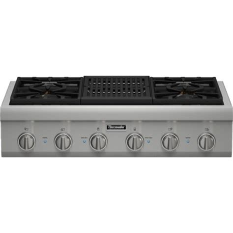 gas cooktop with grill 36 pcg364nl thermador professional 36 quot gas rangetop 4