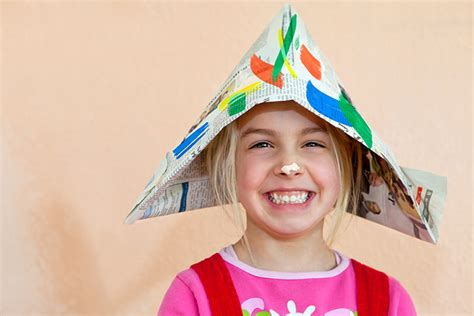 How To Make Sailor Hats Out Of Paper - 21 easy diy how to make a newspaper hat
