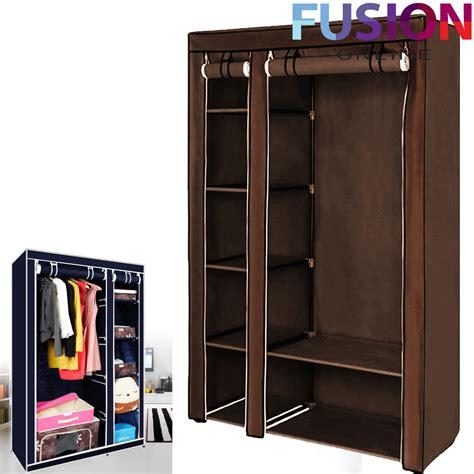 Fabric Wardrobe Storage by Fabric Canvas Clothes Storage Organiser Wardrobe