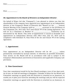 appointment letter as director appointment letters 18 free word pdf documents