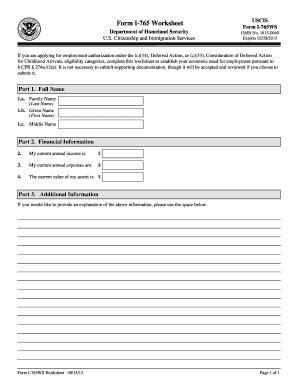 form i 765 worksheet 2012 form uscis i 765ws fill printable fillable blank pdffiller