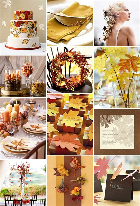 wedding decorations for fall inspiration fall leaves for your autumn wedding pixel ink