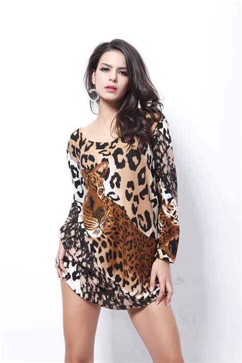 Dress Deniminner aliexpress buy 2015 new plus size sleeve leopard daily dresses winter warm